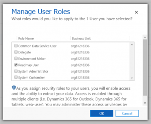 PowerApps – Creating and assigning CDS Security Roles